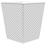 WB2804-Gray Chelsea Wastepaper Basket