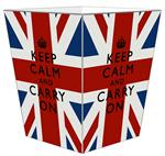 WB2875 - Keep Calm Union Jack Wastepaper Basket