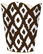 WB2901 - Grande Ikat Brown Wastepaper Basket