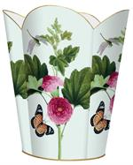 WB344-Pink Peony & Butterfly Wastepaper Basket