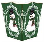 WB411-Snowman on Green Provencial