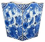 WB501-Blue Delft Bird Wastepaper Basket