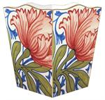 WB559-Delft Red Poppy Wastepaper Basket