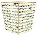 WB570-Sonata Sheet Music Wastepaper Basket