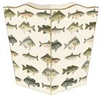 WB579 - Antique Fish Wastepaper Basket