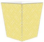 WB8007-Yellow Fret Wastepaper Basket