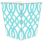 WB8023-Aqua Madison Wastepaper Basket