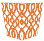 WB8024-Orange Madison Wastepaper Basket