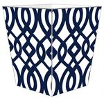 WB8025-Navy Madison Wastepaper Basket