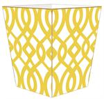 WB8026-Yellow Madison Wastepaper Basket