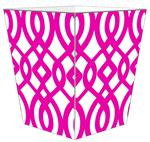 WB8027-Fuschia Madison Wastepaper Basket