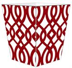 WB8029-Red Madison Wastepaper Basket