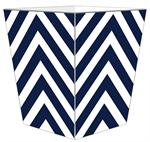 WB8040 - Navy Chevron Grande Personalized Wastepaper Basket