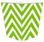 WB8043 - Lime Chevron Grande Personalized Wastepaper Basket