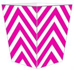 WB8044 - Fuchsia Chevron Grande Personalized Wastepaper Basket