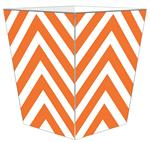WB8045 - Orange Chevron Grande Personalized Wastepaper Basket