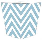 WB8047 - Blue Chevron Grande Personalized Wastepaper Basket