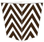 WB8048 - Brown Chevron Grande Personalized Wastepaper Basket