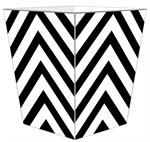 WB8049 - White Chevron Grande Personalized Wastepaper Basket