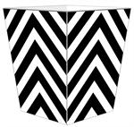 WB8050 - Black Chevron Grande Personalized Wastepaper Basket