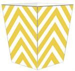 WB8053 - Yellow Chevron Grande Personalized Wastepaper Basket