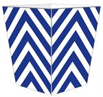 WB8054 - Royal Chevron Grande Personalized Wastepaper Basket