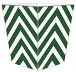 WB8055 - Green Chevron Grande Personalized Wastepaper Basket