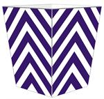 WB8060 - Purple Chevron Grande Personalized Wastepaper Basket