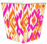 WB8409 - Sunrise Ikat Wastepaper Basket