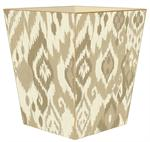 WB8415 - Tan Ikat Wastepaper Basket