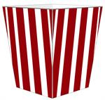 WB8417 - Red Stripe with Navy Monogram  Wastepaper Basket