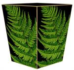 WB8638-Fern Grande Black Wastepaper Basket