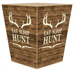 WB8683 Eat Sleep Hunt Wastepaper Basket