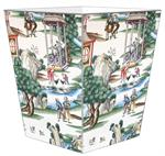WB8469-Custom Wastepaper Basket from Your Wallpaper or Fabric