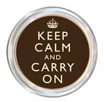 C2431 - Keep Calm and Carry On Brown Coaster
