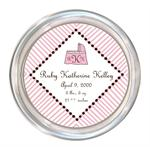 C1603 Pink and Brown Baby Coaster