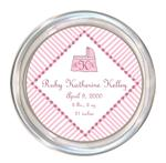 C1624- White and Pink Dots Baby Coaster