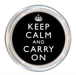 C1763-Keep Calm and Carry On Black Coaster