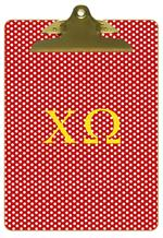 Chi Omega Clipboards