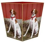 WB8111-Custom Wastepaper Basket Gold Trim from Your Photo