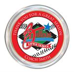 Bellaire Little League Custom Coach Gift Glass Coaster