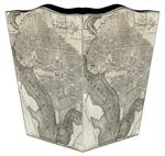 WB1706 - Antique D.C. Map Wastepaper Basket