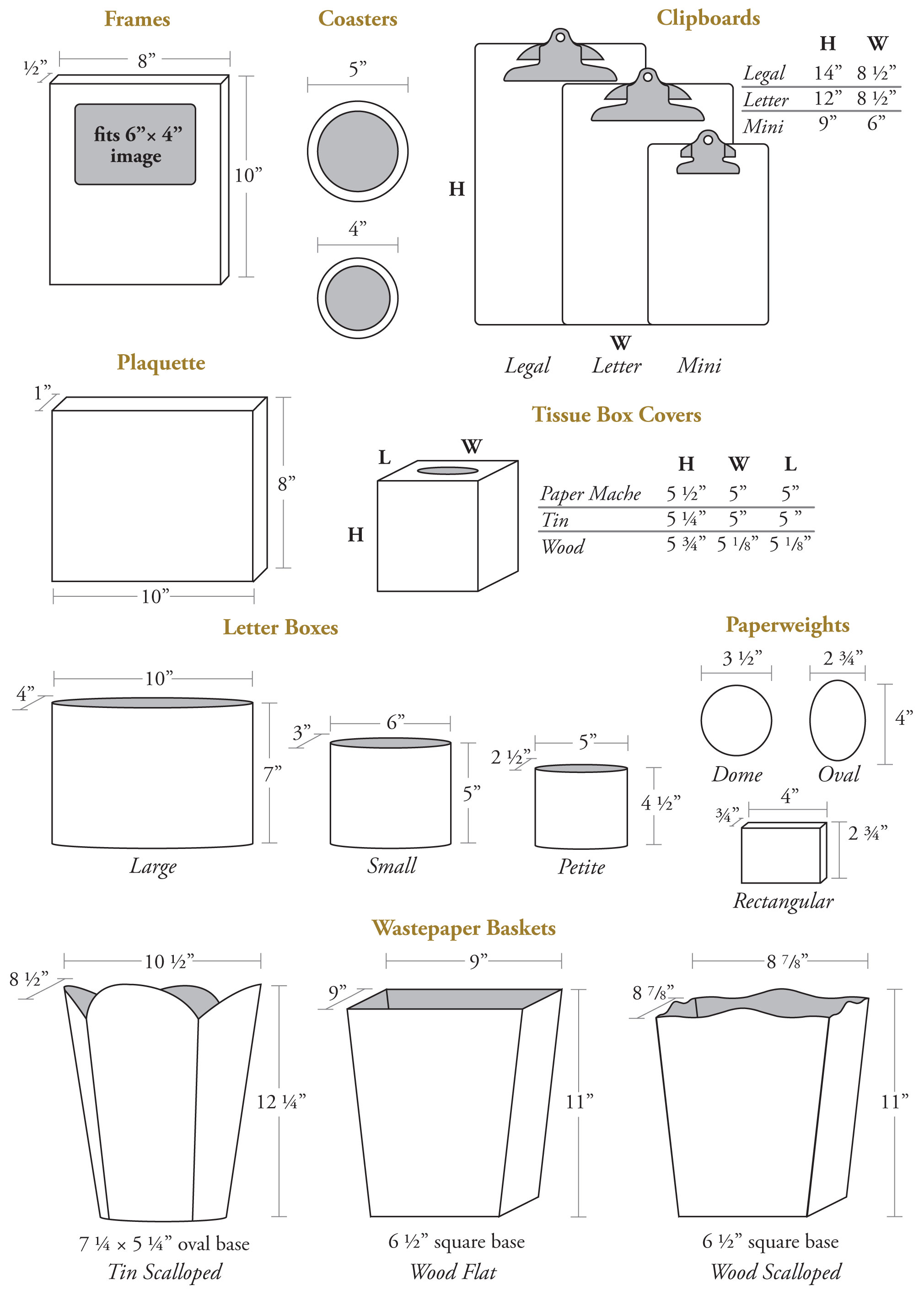 Marye-Kelley Product Specifications